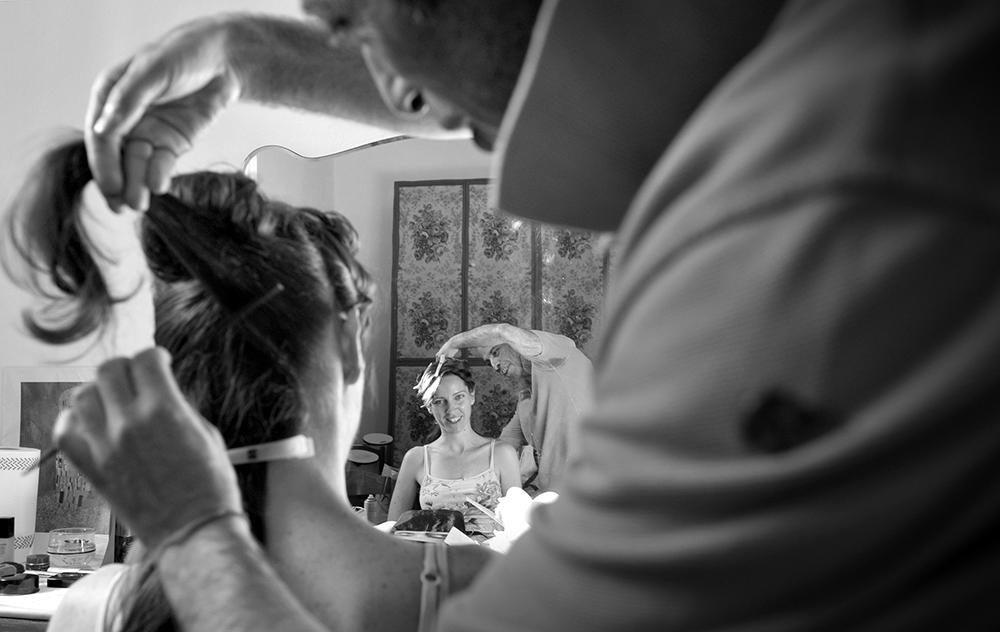 Matrimonio preparazione della sposa